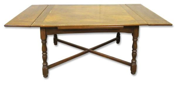 Solid Wood Four Leg Folding Table - Kitchen & Dining