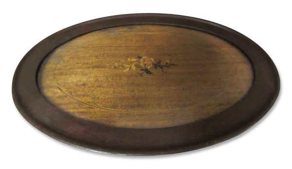 Solid Wood Glass Top Serving Tray - Kitchen