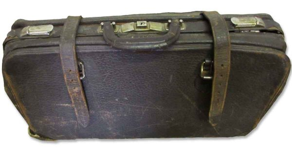 Vintage Leather Suitcase - Suitcases