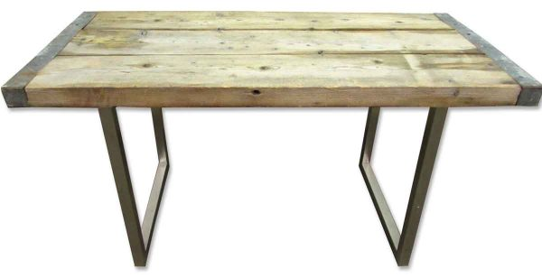 Reclaimed Wood Table with Steel Legs - Commercial Furniture