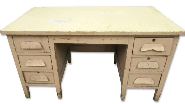 Vintage Wood Desk - Office Furniture