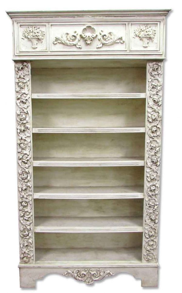 Antique Wooden Floral Bookcase - Bookcases
