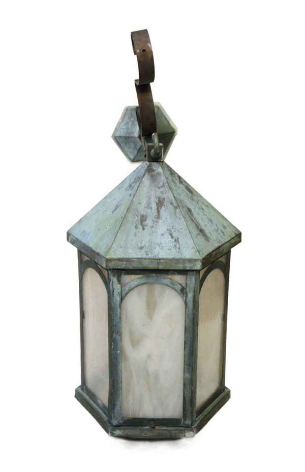 Single Antique Lantern Sconce - Wall & Ceiling Lanterns