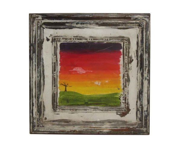 Pretty Hand Painted Sunset - Hand Painted Panels