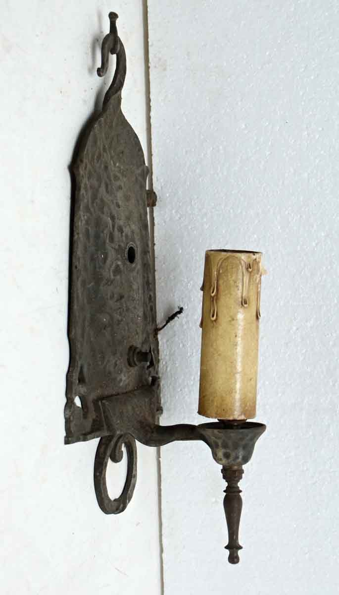 Hammered Copper Wall Sconces : Pair of Hammered Metal Sconces Olde Good Things