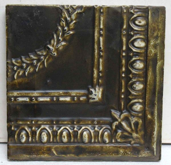 Olive Green Corner Tin Panel - Tin Panels