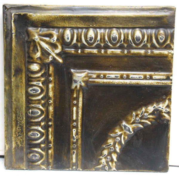 Mustard Brown Tin Panel - Tin Panels