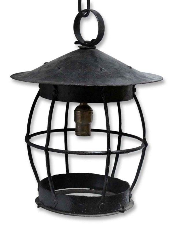 Cage Shaped Iron Black Lantern - Wall & Ceiling Lanterns