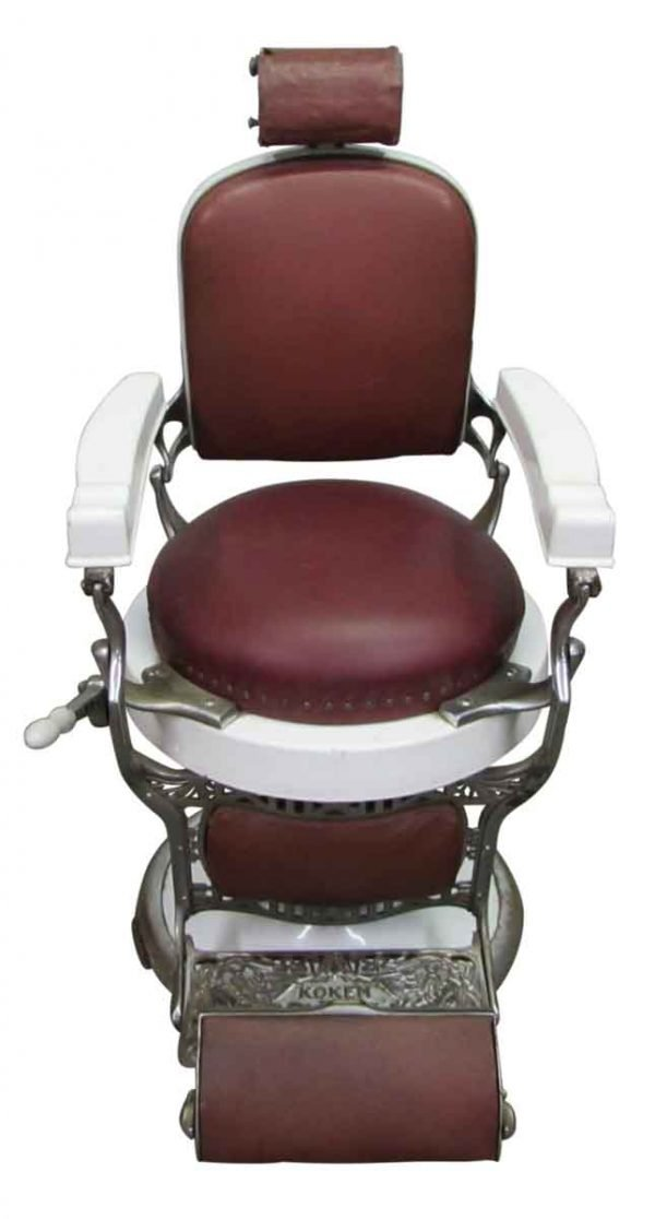 Vintage Red Barber Chair - Commercial Furniture