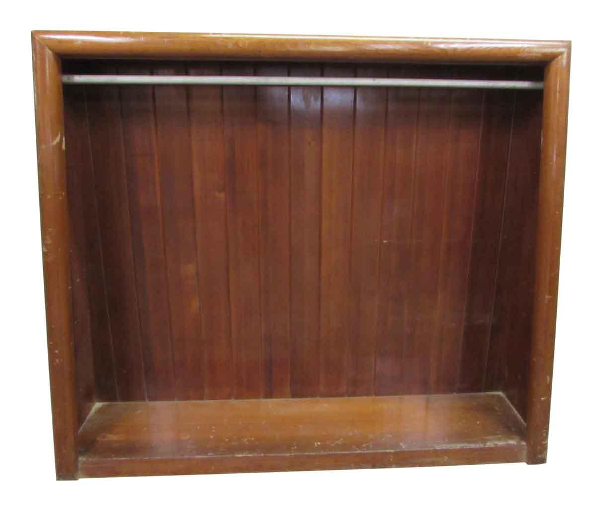 Free Standing Wood Closet Slated Back