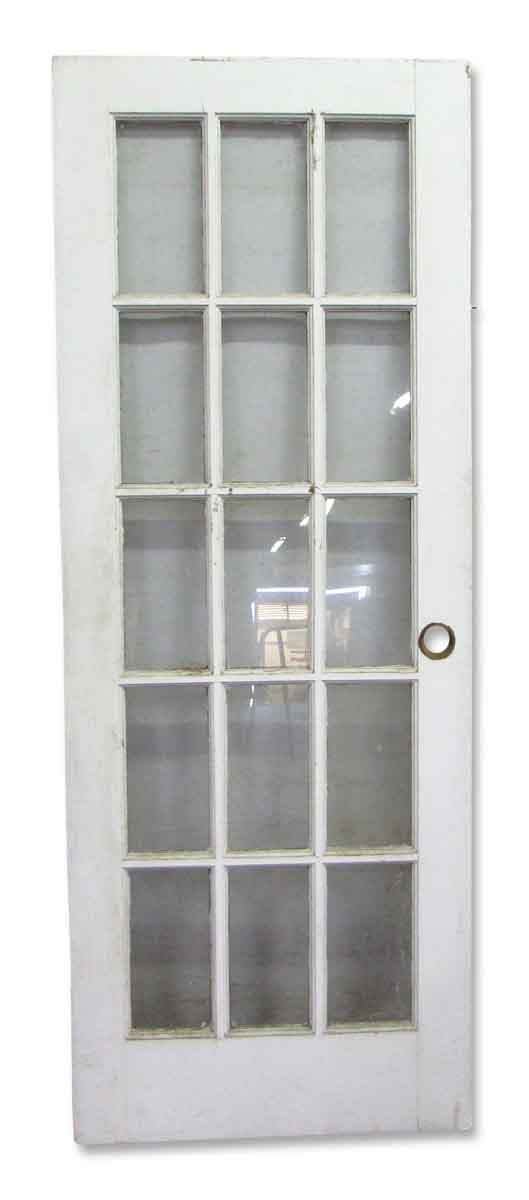 Fifteen glass lights french door olde good things for Standard french doors