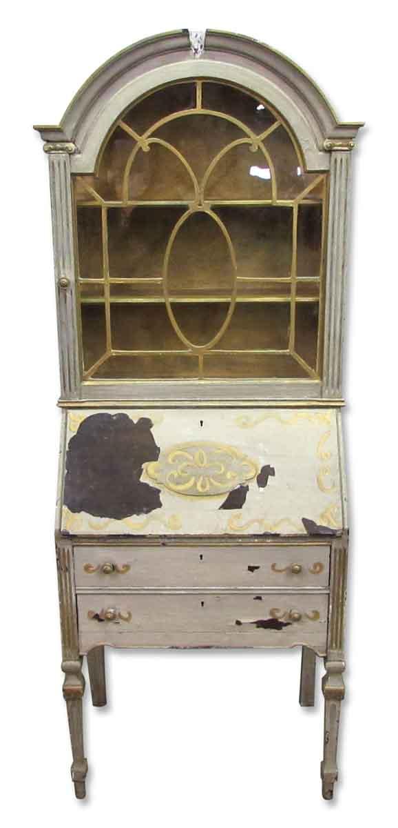 Antique Secretary Desk & Cabinet Duo - Office Furniture