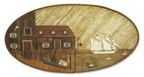 Hand Carved Wood Mural - Other Wall Art