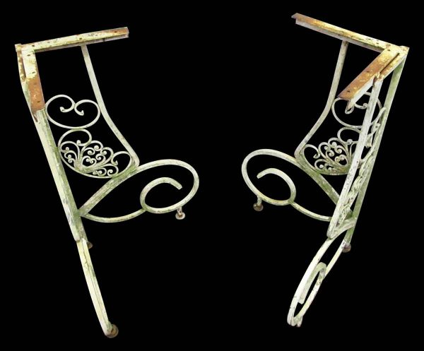 Pair of White Iron Table Bases - Table Bases