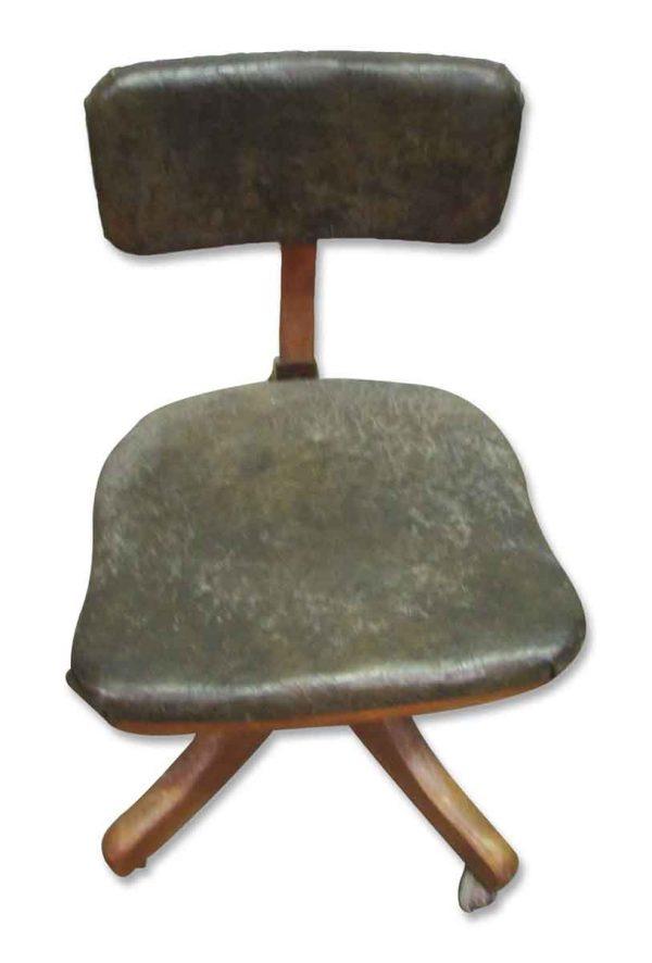 Single Wooden Office Adjustable Desk Chair - Office Furniture