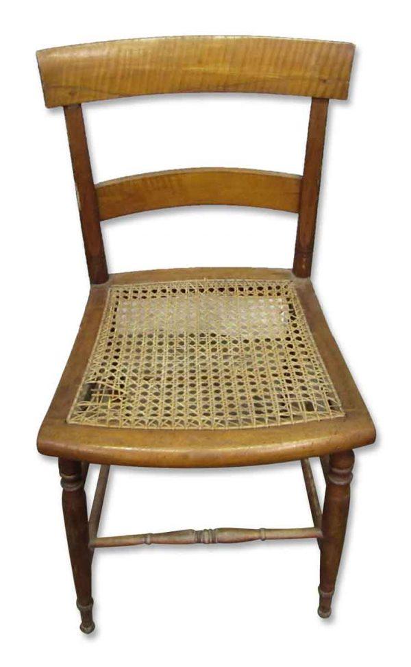 Single Armless Wooden Chair - Flea Market