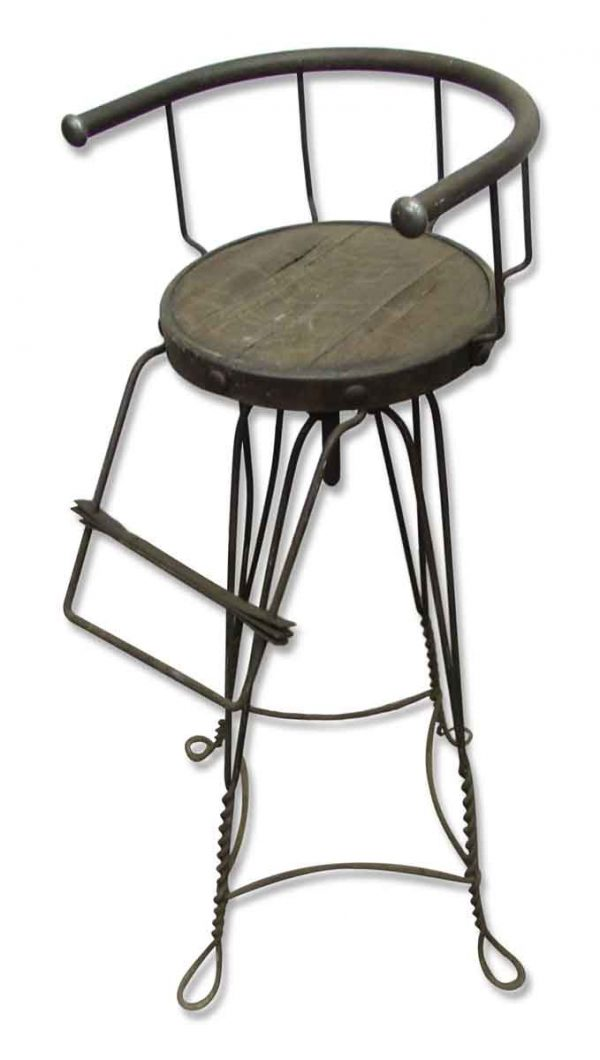 Unique High Iron Stool - Seating