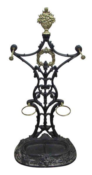 Ornate Cast Iron Hall Tree - Umbrella Holders
