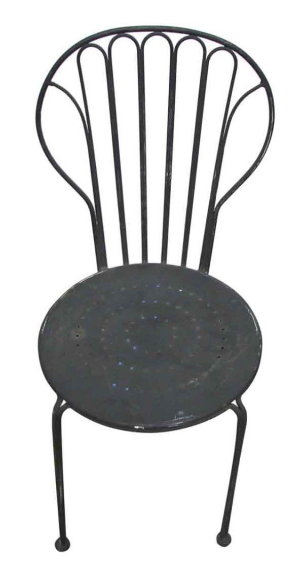 Black Metal Chair - Seating