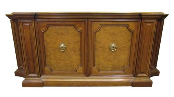 Antique Wood Sideboard with Parquet Top - Kitchen & Dining