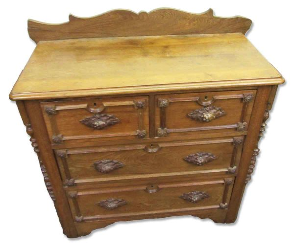 19th Century Carved Wash Stand or Wood Dresser  - Bedroom