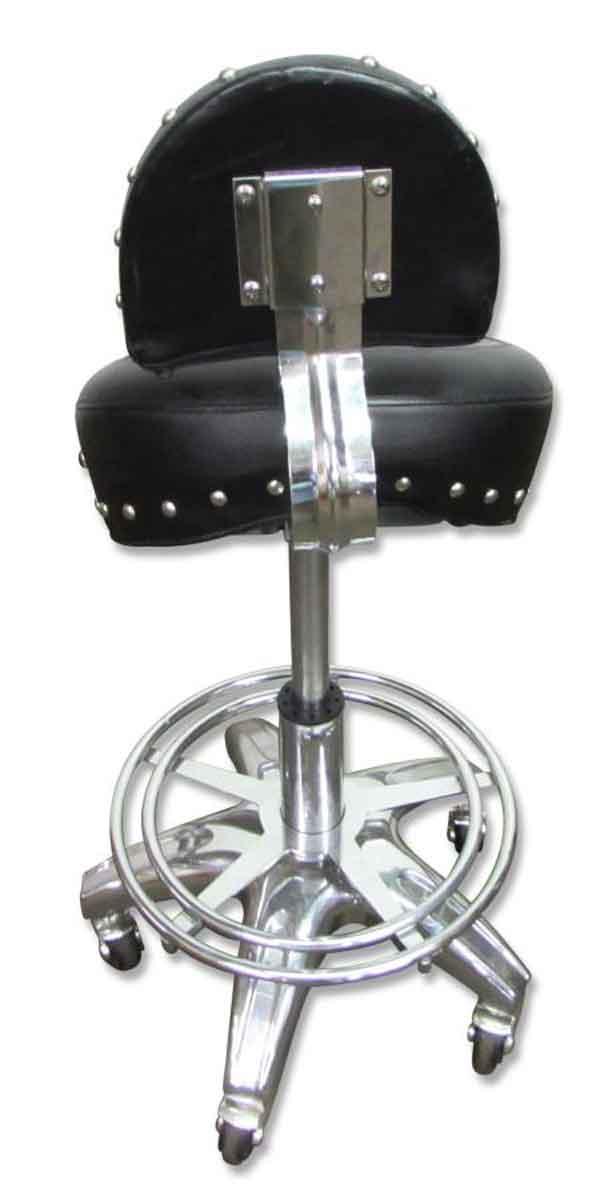 Motorcycle Seat Stool : Rolling harley or motorcycle seat stool olde good things
