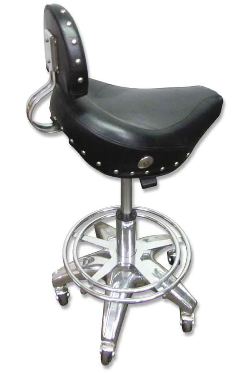 rolling harley or motorcycle seat stool