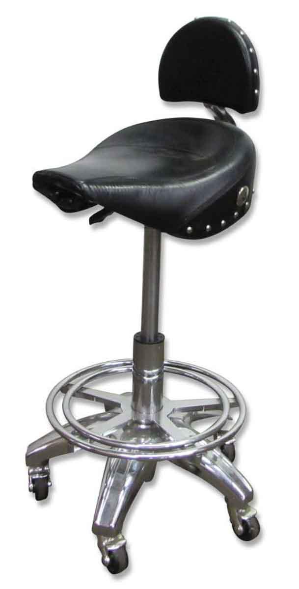 Rolling Harley Or Motorcycle Seat Stool Olde Good Things