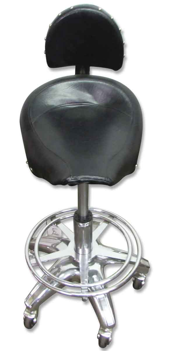 Rolling Harley or Motorcycle Seat Stool - Seating