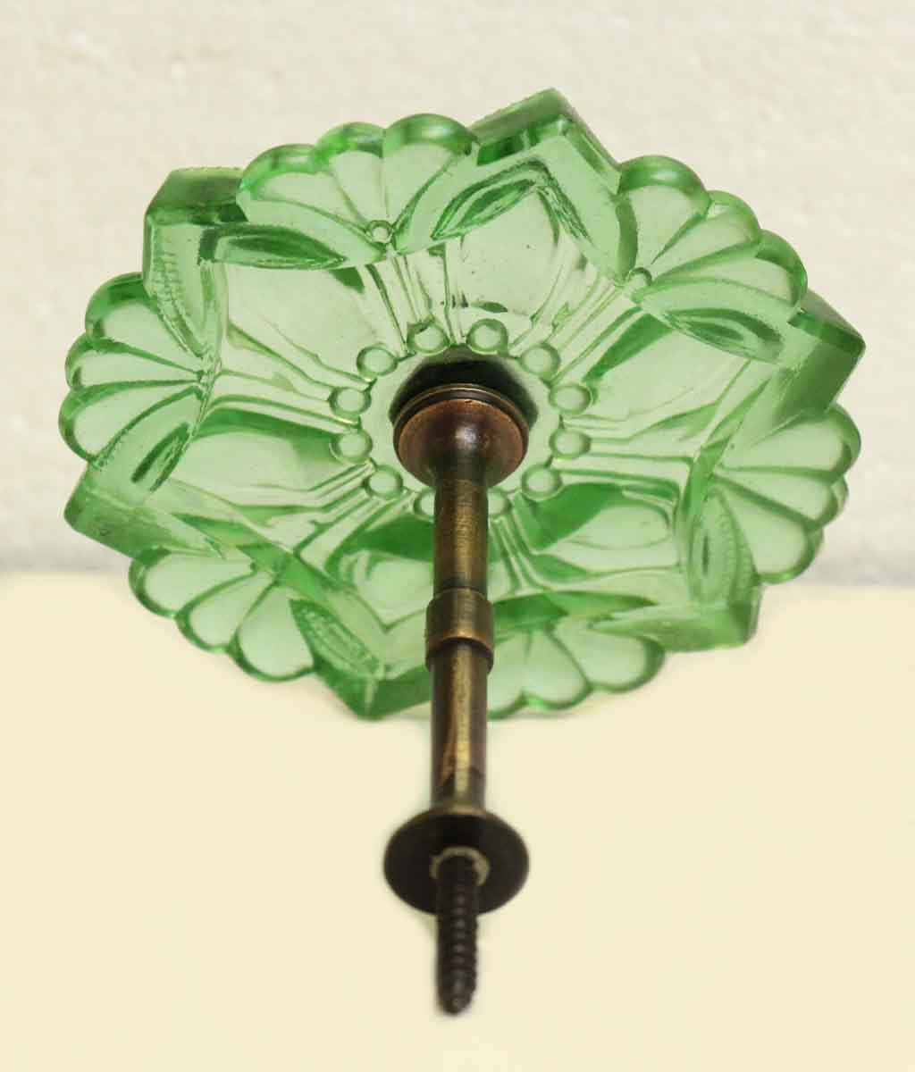 Pair Of Repro Green Glass Curtain Tie Backs