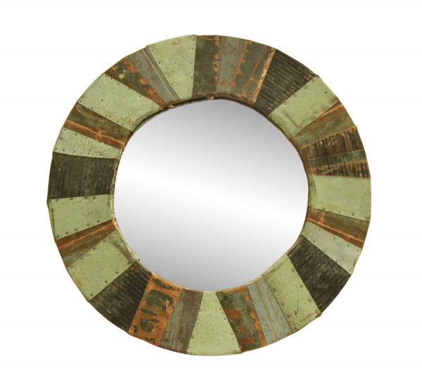Round Copper Patchwork Mirror - Copper Mirrors & Panels