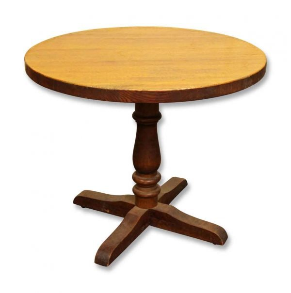 Round Oak Table - Kitchen & Dining
