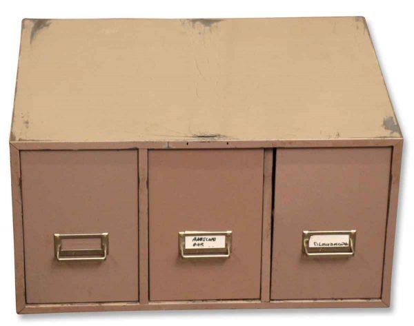 Metal Three Drawer Cabinet - Shelves & Racks