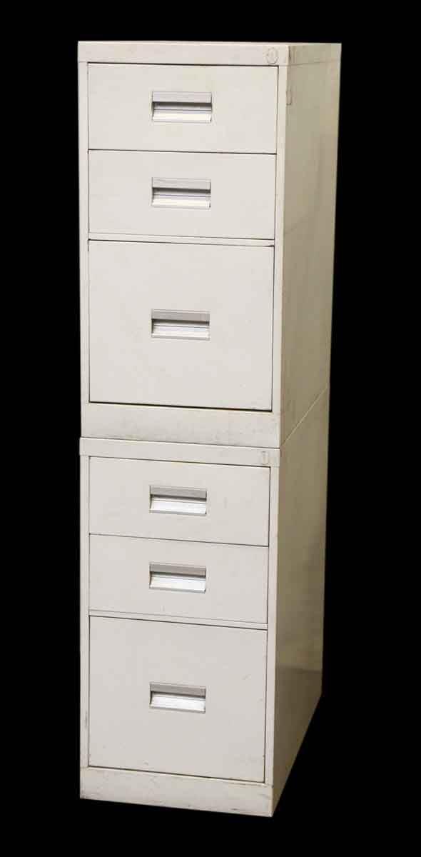 Stackable White Metal Filing Cabinet - Office Furniture