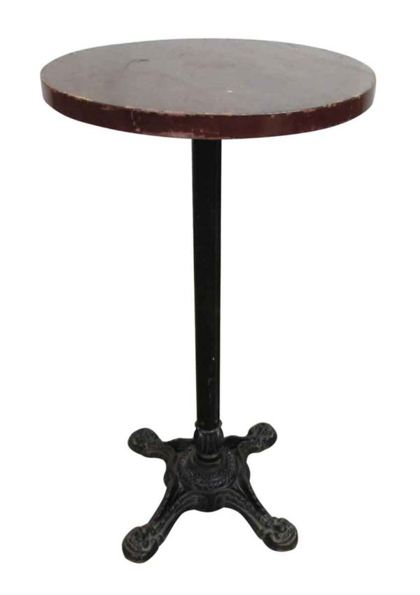 Round Bar Table with Metal Base - Commercial Furniture