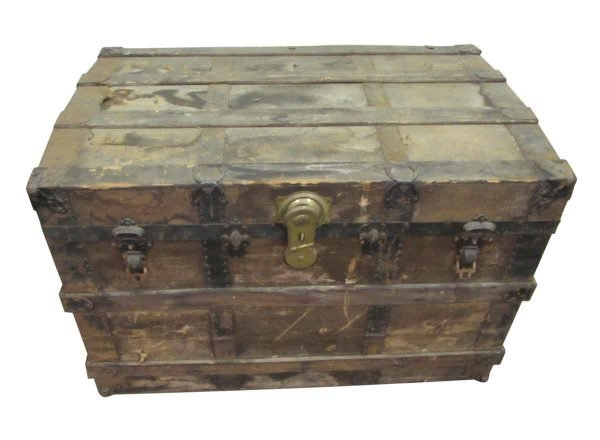 Solid Wood Worn Trunk - Trunks
