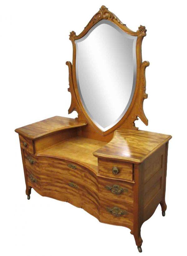Maple Dresser Vanity - Bedroom