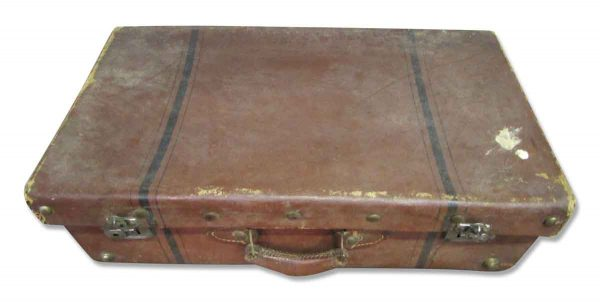 Vintage Suitcase with Black Stripes - Suitcases