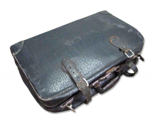 Black Vintage Worn Suitcase - Suitcases