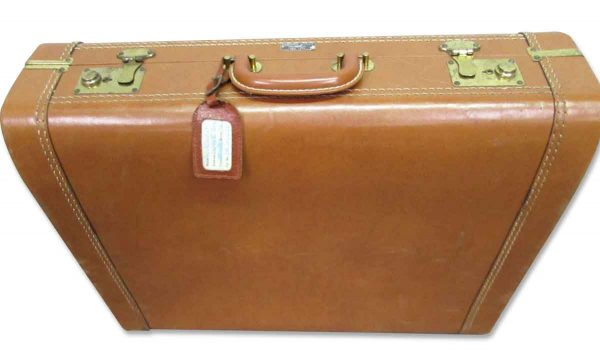 Vintage Brown Leather Briefcase - Suitcases