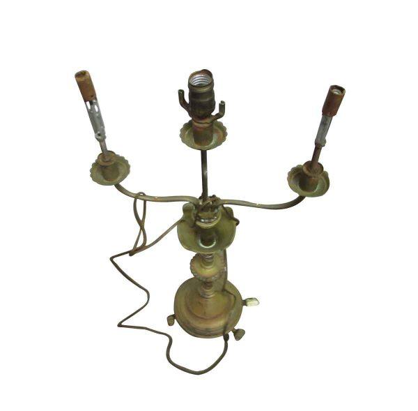 Three Arm Brass Lamp - Candelabra Lamps