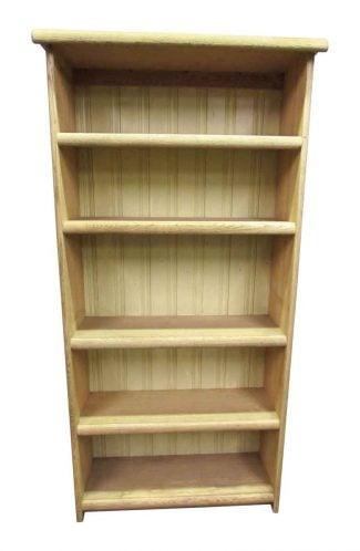 Pickled Oak Five Shelf Bookcase