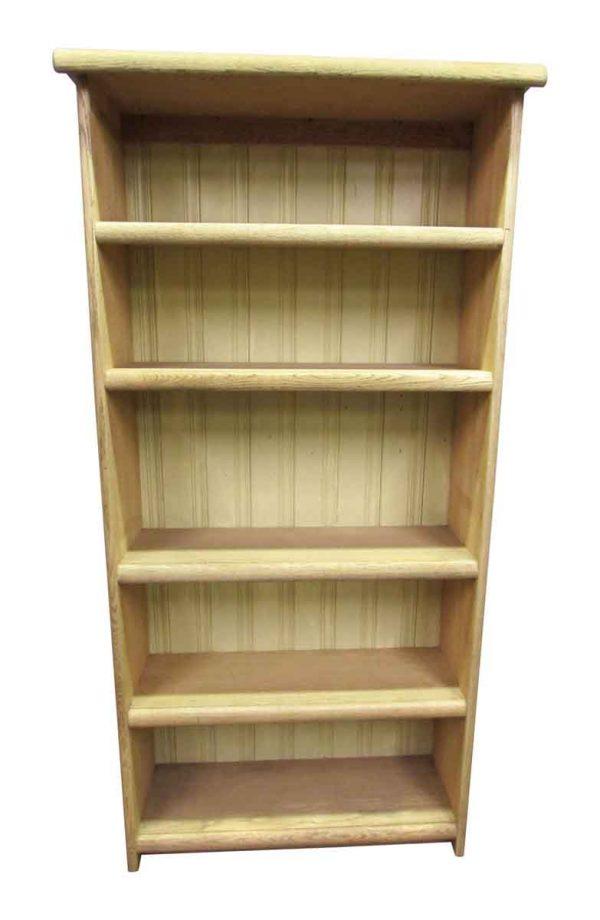 Pickled Oak Five Shelf Bookcase - Bookcases