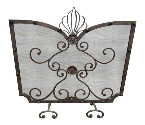 Ornate Metal Fireplace Screen - Screens & Covers