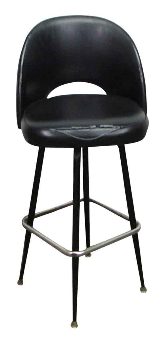 Retro Black Vinyl Bar Stool - Seating