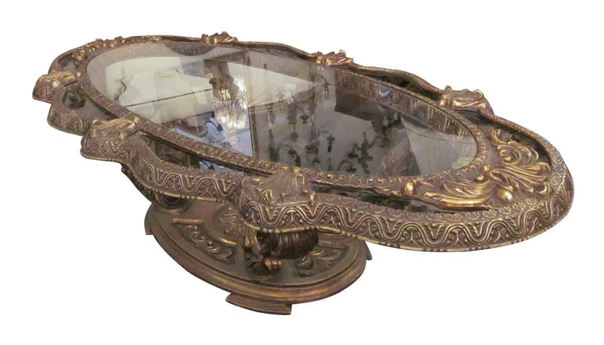 Gold black ornate coffee table olde good things gold black ornate coffee table geotapseo Gallery