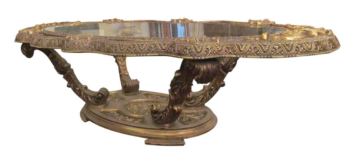 gold black ornate coffee table olde good things. Black Bedroom Furniture Sets. Home Design Ideas