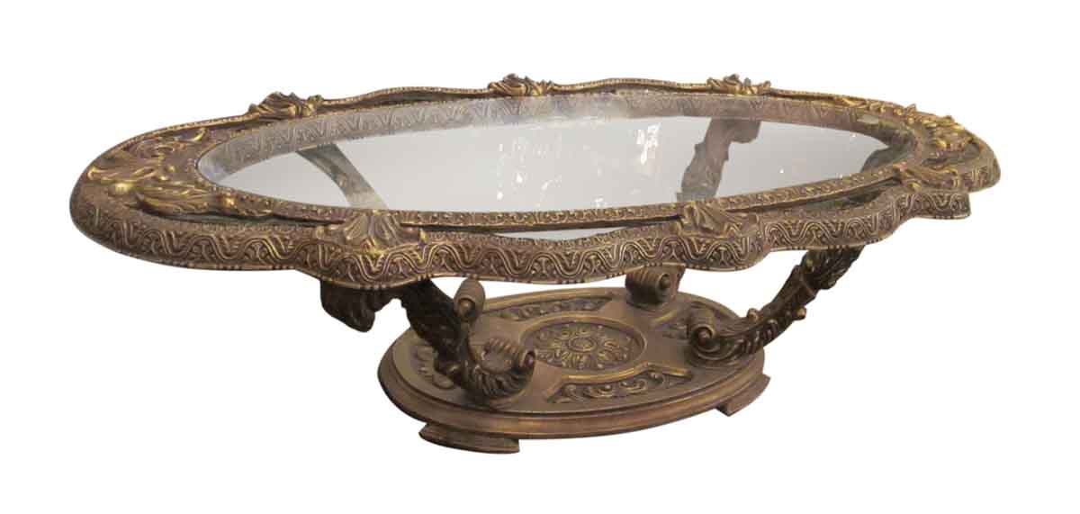 gold & black ornate coffee table | olde good things