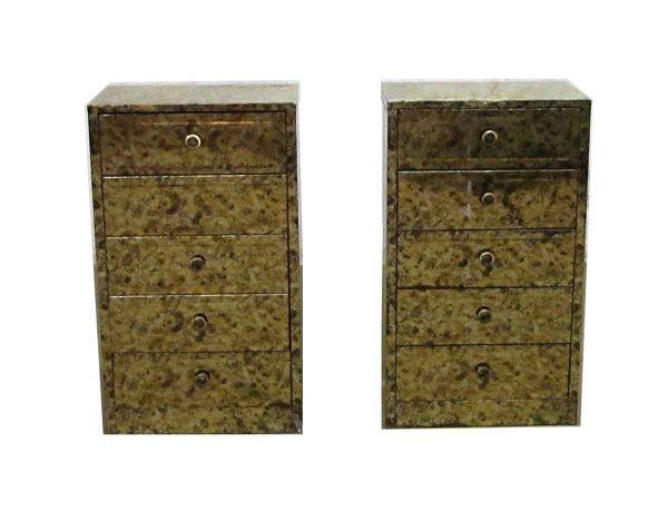 Pair of Petite Metal Cabinets - Bedroom