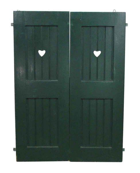 Heart Cut Out Shutter Doors - Shutters